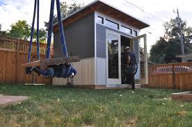 Building Backyard Shed Prefab Modern Sheds And Backyard Studios Studio Shed