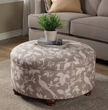 grey u0026 off white fabric storage ottoman caravana furniture