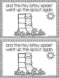 the itsy bitsy spider emergent reader by tickled pink in primary