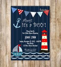 navy nautical baby shower invitation ahoy it u0027s a boy