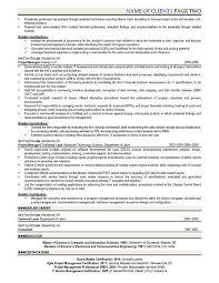 Itil Certified Resume It Resume Samples Infotechresume