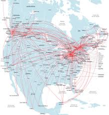 United International Route Map canada route map north america