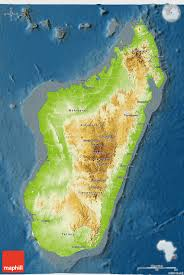Madagascar Map Physical 3d Map Of Madagascar Darken