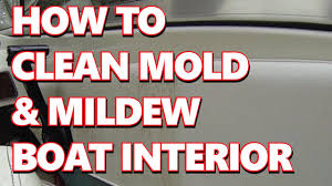 how to boat marine easy clean mold mildew from vinyl boat seats
