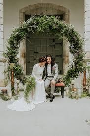 Wedding Ceremony Moody Wedding Inspiration 100 Layer Cake