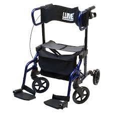 Transport Walker Chair Lumex Hybridlx Rollator And Transport Chair Combo