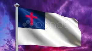 Christian Flag Images Christian Flag With Dramatic Sky Loop Video 21305470