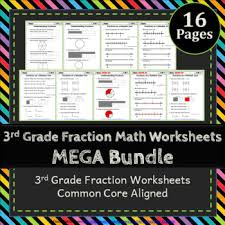 3rd grade fractions worksheets 3rd grade math worksheets fractions