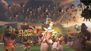 clash of clans wallpaper free clash of clans fan art balloon hogrider event wallpaper hd