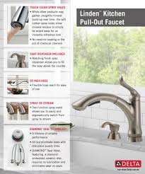 Delta Lakeview Faucet Bronze by Delta Linden Single Handle Pull Out Sprayer Kitchen Faucet With