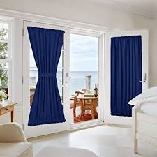 amazon com nicetown blackout door curtain for privacy enhancing