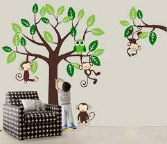 Monkey Nursery Wall Decals Baby Nursery Decor Vinyl Wall Decals Monkey Baby Nursery Jungle