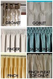 different curtain styles exles of the different heading types available i quite like