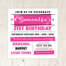 14th birthday party invitations personalised birthday party invitations retro style by a is for