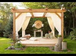 Gazebo Or Pergola by Pergola Curtains Design Ideas Pictures Youtube