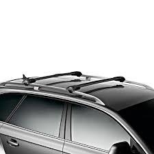 nissan rogue luggage rack thule 7503b aeroblade black edge raised rail rack 1 bar
