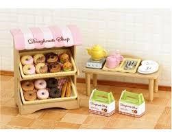 sylvanian families cuisine sylvanian families doughnut store 5239 food glorious food theme