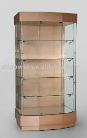 lockable glass display cabinet showcase wooden floor jewelry cabinet showcase tempered glass lockable