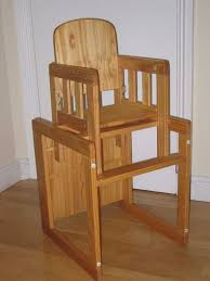 wooden high chair convert into table and chair
