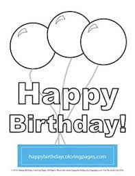free birthday balloons coloring page birthday balloons coloring