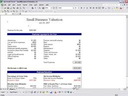 Business Valuation Excel Template Small Business Valuation Small Business Valuation Template