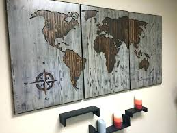 wall decor panels modern wall decor panels modern world map wood