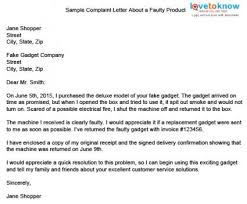 complaint letter example for bad product cover letter templates