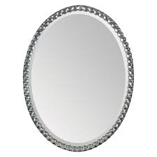 ren wil oval crystal framed wall mirror 24w x 32h in walmart com