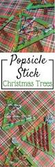 popsicle stick christmas crafts stick christmas tree super easy
