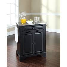 black kitchen island with stainless steel top crosley furniture lafayette stainless steel top black kitchen