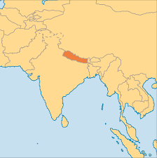 Map Of Nepal And China by Nepal Operation World
