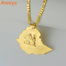 Ethiopia Map Africa by Aliexpress Com Buy Anniye Ethiopian Map Pendant Necklaces Chain