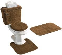 Brown Bathroom Rugs Reflections 5 Piece Bath Rug Contour Lid Tank Lid U0026 Tank Cover