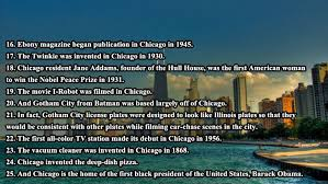 interesting facts about chicago others