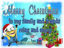 merry to my family and friends minion quote pictures