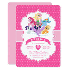 my little pony invitations u0026 announcements zazzle