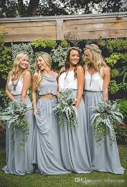Summer Garden Dresses - 2017 summer garden country style boho bridesmaid dresses two piece