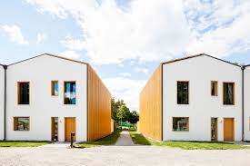 row houses sevenfold design despite zero energy row houses in sweden