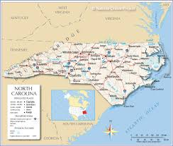Map Of United States Physical Features by Reference Map Of North Carolina Usa Nations Online Project