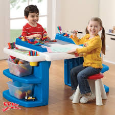 step2 kids activity desk table lego building mega block toys art