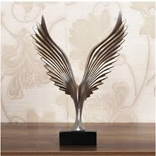 home sculptures creative home decor eagle wing abstract sculpture decoration