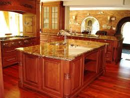 Kitchen Island Construction Granite Countertop Types Of Wood Used For Cabinets Microwave
