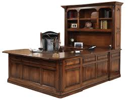 Office Executive Desks Lexington U Shaped Executive Desk Gish U0027s Amish Legacies