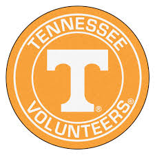 Tennessee Vols Home Decor Of Tennessee Volunteers Logo Roundel Mat 27