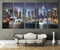 New York Yankees Home Decor Trendy Wall Ideas New York Landscape Canvas New York Themed Room