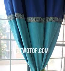Blue Window Curtains Solid Bedroom Window Curtains India Style