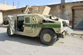 armored humvee us humvee seized by sdf from isis in tabqah city isis liveuamap com
