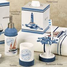 Navy Blue Bathroom by Nautical Bathroom Accessories Coastal Bathroom Decor Coastal