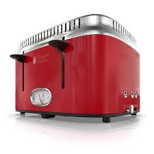 Retro Toaster And Kettle Retro Style 4 Slice Toaster Red U0026 Stainless Steel Russell Hobbs