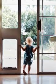 sliding glass door with doggie door baxter u0027s new best friend and mine too u2014 the overwhelmed mommy